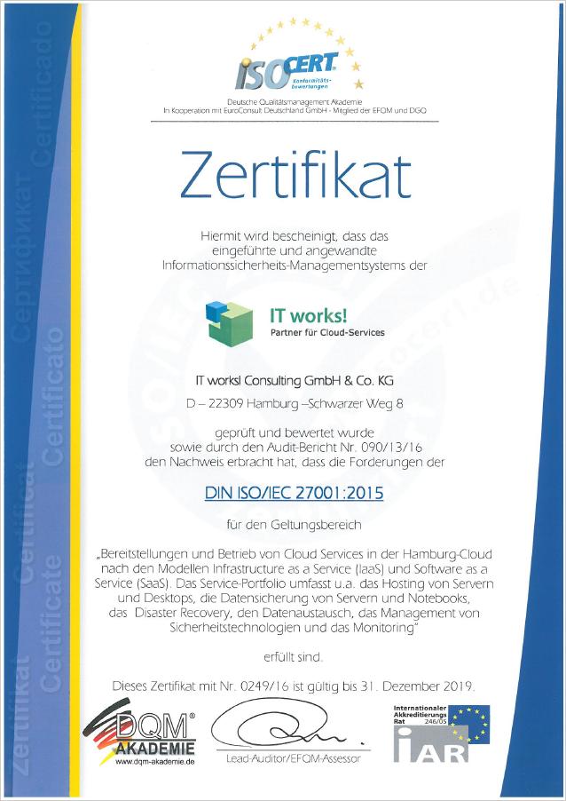 Zertifizierung   IT works!